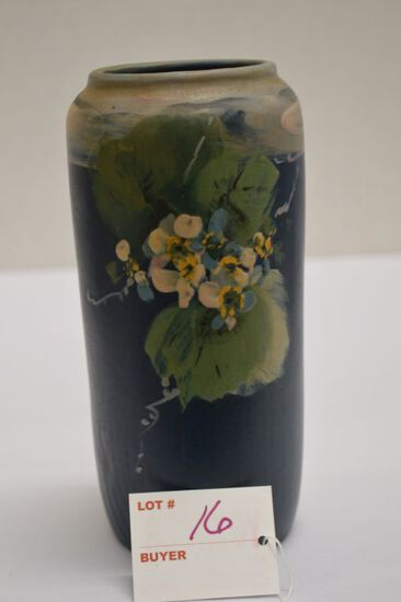 """Weller Hudson Style Vase """"Forgive Me Nots"""", 7 1/2in."""