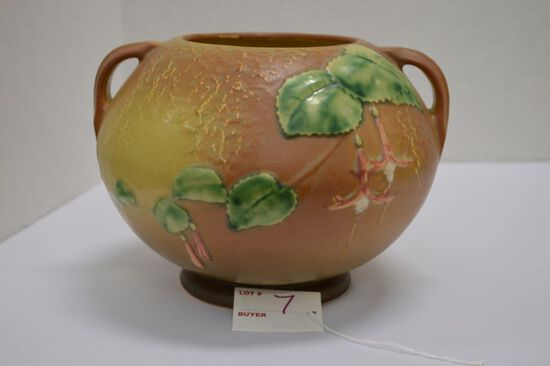 Roseville Fuchsia Pot, Double Handled, #311?