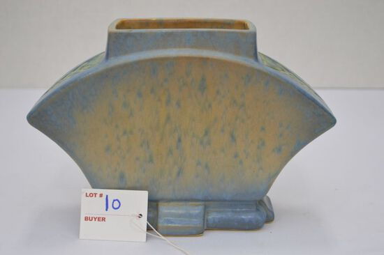 "Roseville Blue Pot/ Vase 6"" Futura Unmarked"