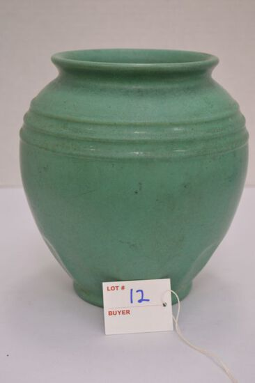 "York Pottery Vase - Green 8"" Tall"