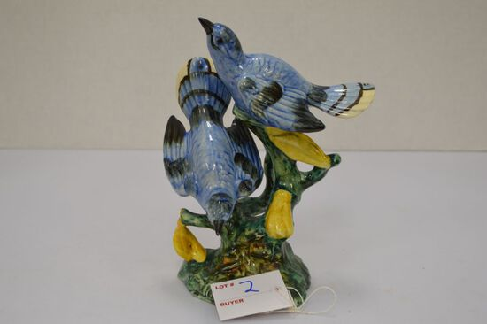 "Stangl Pottery Blue Birds 6 1/2"", Numbered & Artist Initials"