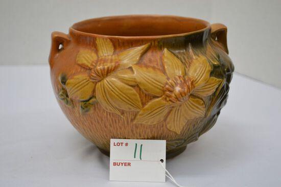 "Roseville USA ""Clematis"" Flower Bowl, #667-5"""