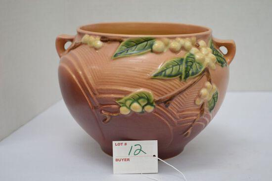 """Roseville USA Snowberries Bowl/Vase, #1J-6"""" - Some Crackling"""