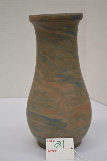Niloak Swirl/Mission Ware Vase, 10 in.