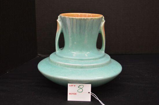 """Unmarked Roseville """"Orion"""" 1935 Vase, 8 x 8 in."""