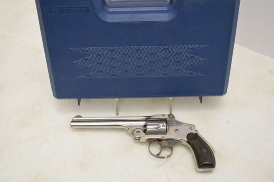 "Smith & Wesson Top Break Revolver, 38 cal, 5"" Barrel, Hammerless, Stainless"