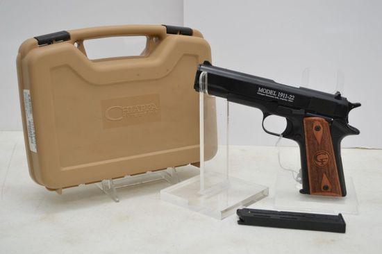 Chiappa Mdl 1911-22, 22 cal, Blued, Wood Grips, Original Box, SN# D56879