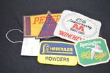 Lot of Old Vintage Patches Ammo Patches: Winchester, Peters, etc...