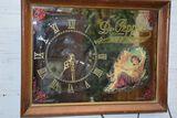 Vintage Dr. Pepper Framed Mirror Clock, 19 x 15