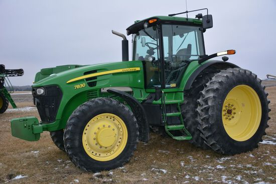 2009 John Deere 7830, 4231 Hours, ONE OWNER, Auto Power Quad Transmission w