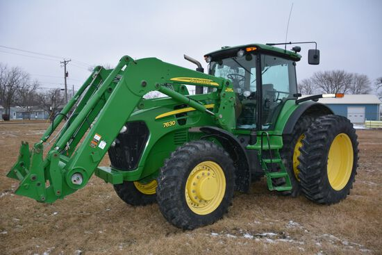 2009 John Deere 7630, 4154 Hours, ONE OWNER, Auto Power Quad Transmission W