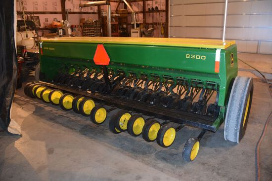 "John Deere 8300 Drill, 10"" Spacing 16 Row, New Marker Tires, Completely Reb"
