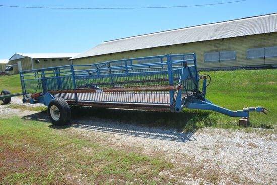 Lifetime Products Hog Cart, hydraulic lift, approx. 20 ft., with center div