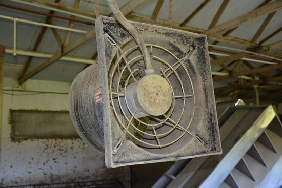 Del-Air Model TF200 Finishing House Fans, to be removed