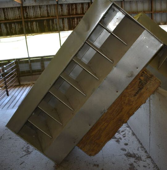 Stainless Steel, Double Sided 8-hole Feeders