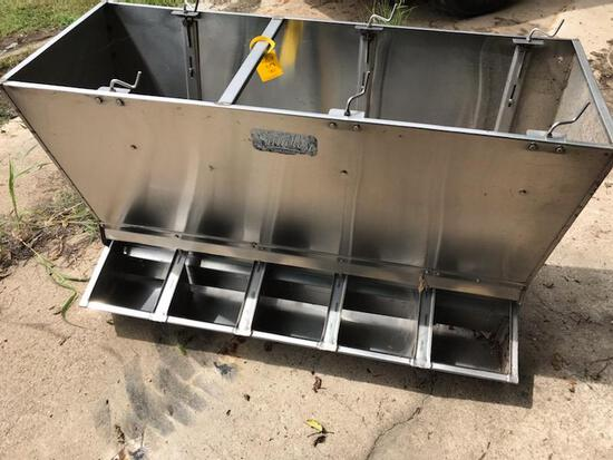 Stainless Steel, Double Sided 5-hole Feeders