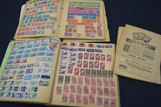 Group of Stamp Books with Old Used Stamps