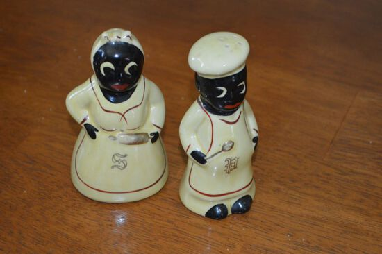 Mamy and Mo Salt and Pepper Hand Painted