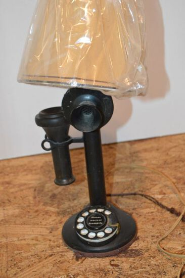 Rotary Dial Vintage Phone Converted into a Lamp