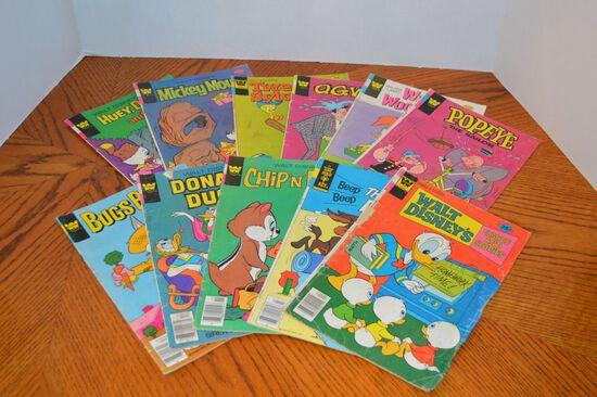 Group of 11 Whitman 35 cent Walt Disney Comic Books