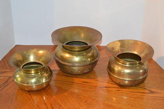 Brass Spittoons