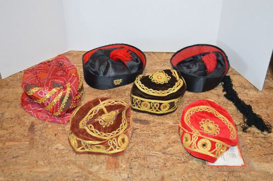 Group of Asian/Inian Ceremonial Hats