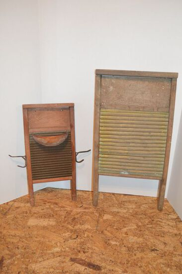 Pair of National Brass WashBoards - 1 modifies