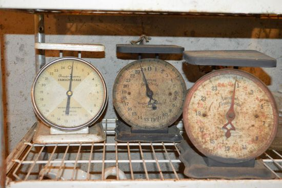 Group of 3 Vintage American Family Kitchen Scales