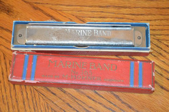 Marine Band No. 365 Harmonica by M. Hohner of Germany