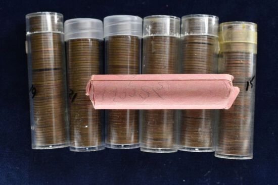 1950's Various Dates & Mints - Wheat Pennies, Approximately 350