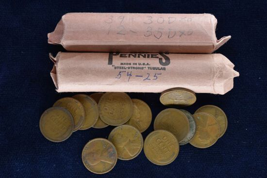 1920 - 1930 Various Date Wheat Pennies Approximately 122