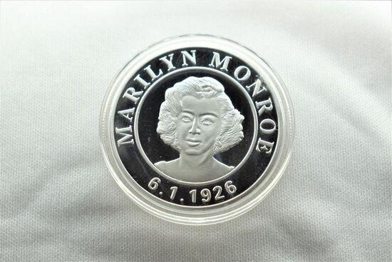Silver Coin/Token of Marilyn Monroe in Plastic Holder