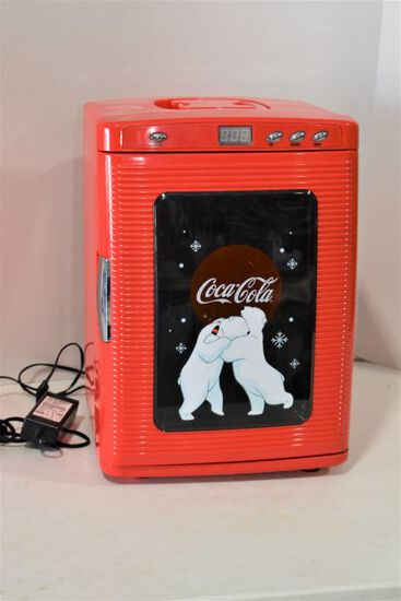Small Coca Cola Portable Refrigerator w/ Car Plug in
