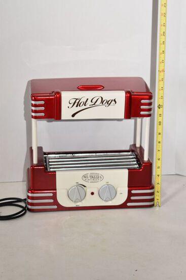 "Nostalgia Electronics Electric Hot Dog Warmer, 14""x13"""