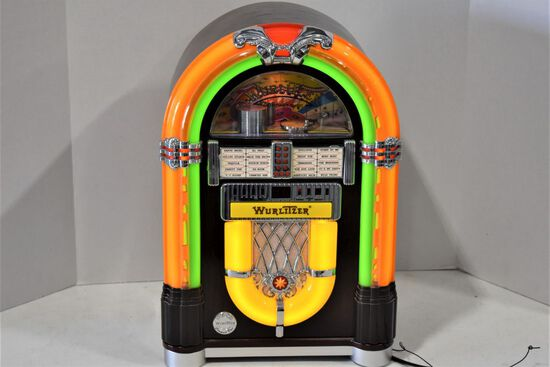 "Wurlitzer Retro Radio/Compact Disk Juke Box, Electric, 18""x12"""