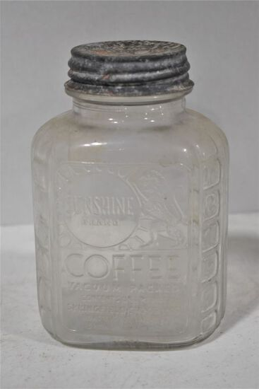 Shunshine Brand Coffee Jar w/ Zinc Lid
