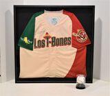 Los T-Bones Signed Jersey Shirt - Framed in Box - Frank White #20 w/ Signe