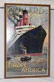 Cunard - Europe America Ship - Litho: 40