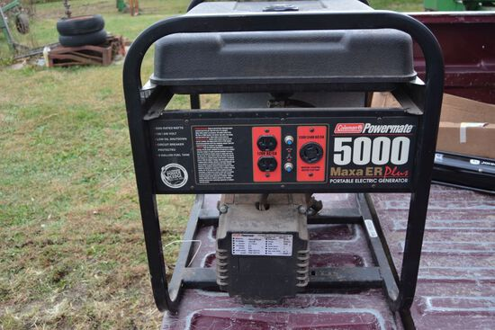 Coleman Powermate 5000 Maxa ER Plus Portable Electric Generator, 10 HP Tecu