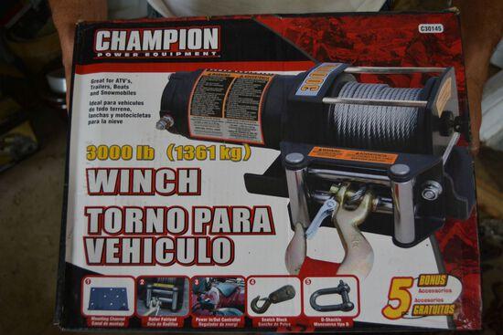 Champion 3000lb Winch