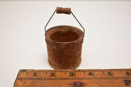 Mini Bail Handled Wood Pail