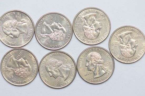 7-1999 Delaware State Quarters- 1st ones issued