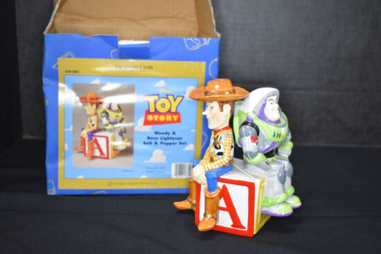 New in Box Toy Story Salt & Pepper by Treasure Craft