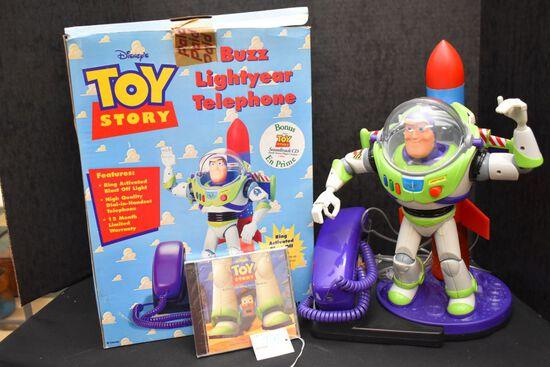 Buzz Lightyear Telephone & CD w/ Orginal Box
