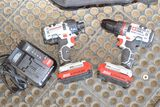 2- 20v Battery Drill and Nut Driver