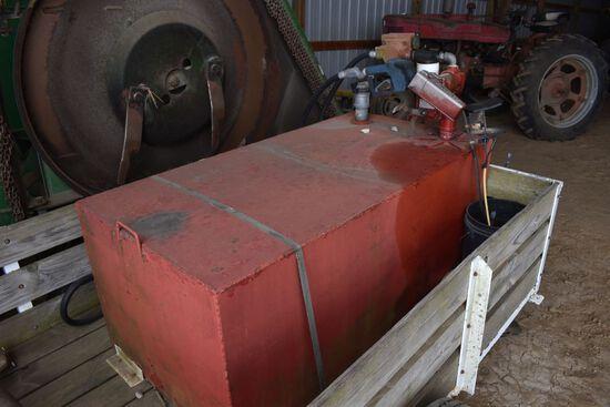 200 Gal Portable Diesel Fuel Tank, 12v Fil-Rite Pump