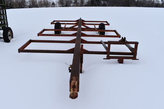 6 Big Bale Hay Cart, Bumber Hitch, With Spear