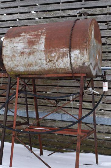 Diesel Barrel On Stand, 500 Gallon