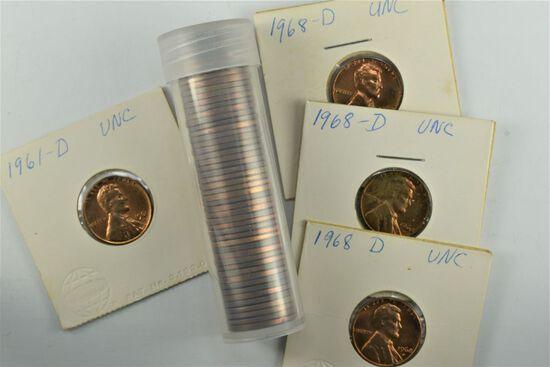 54 – 1960's Lincoln Cents Brilliant