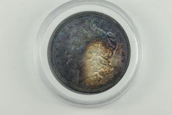 1921 Toned Morgan Silver Dollar